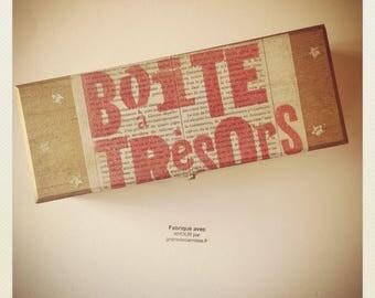 La boîte à trésors imprimée à la main avec AMOUR par Graine de Carrosse [Pièce UNIQUE]