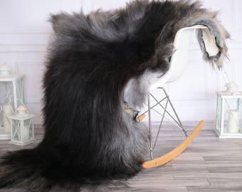 Icelandic Sheepskin | Real Sheepskin Rug | I Gray Black Sheepskin Rug | Fur Rug | Christmas Decorations #novisl3