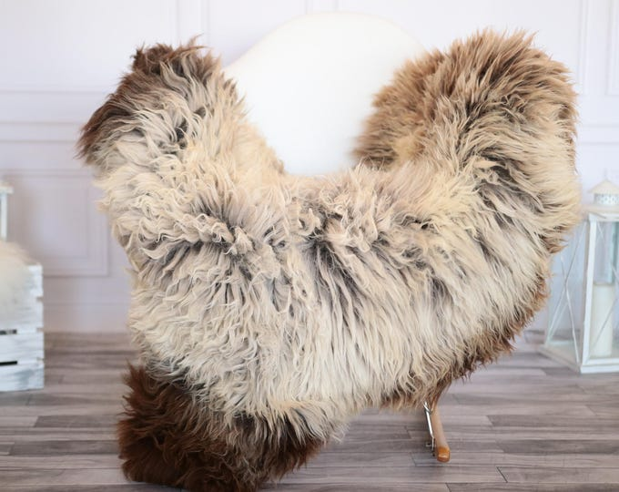 Sheepskin Rug | Real Sheepskin Rug | Shaggy Rug | Scandinavian Rug | Sheepskin Throw Brown Sheepskin | SCANDINAVIAN DECOR | #JANHER38