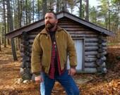 60s 70s Men's Retro Sweaters, Jackets, Coats US Made Corduroy William Barry Vintage 70s Bomber Jacket  Coat. Mens size 42 MediumLarge. See details. $54.00 AT vintagedancer.com