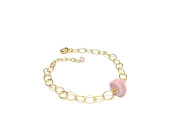 "Bracelet ""Ruby"" - stones and Vermeil"