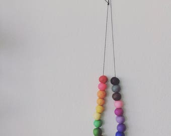 PRIDE NECKLACE/Polymer clay necklace/necklace/bridesmaid gift/best friend gift/birthday gift/jewelry