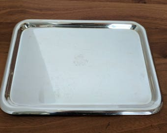 Antique FRIEDMAN Silver Large Rectangle Buffet/Sandwich Tray w Etched Griffin