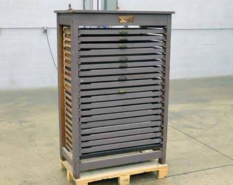 Hamilton Printers Type Case Frame Cabinet #25