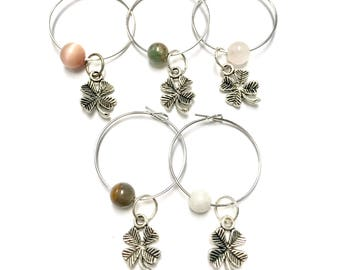 Clover Wine Glass Charms