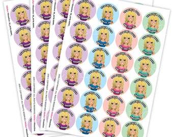 Personalised teacher's reward/merit stickers for students and marking