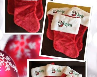 Personalized Christmas Stockings & Santa Hats