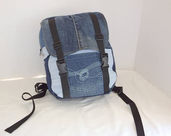 Beyond the Pale: Upcycled denim backpack