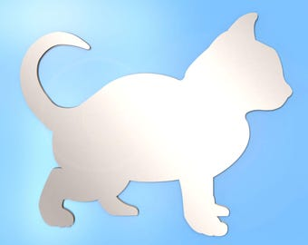 Cat Kitten Shaped Mirror - Available in various sizes
