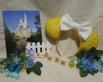 Bumble bee Pooh inspired Mouse Ears / Headband