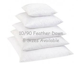 SALE 18x18 Down Pillow Insert // 10/90 Down Feather Blend Pillow Inserts // Pillow Form // Down Pillow Form // Down Cushion Insert
