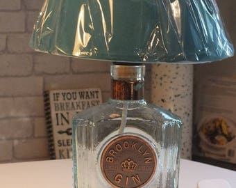 Brooklyn Hand Crafted (upcycled) Gin Bottle Lamp