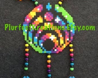 Colors Customizable!! Bass Protruding Dream Catcher Kandi Necklace