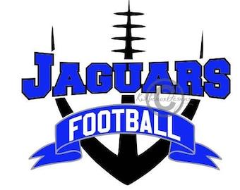 Jaguar Football Svg, Banner Svg, Sports Svg, Dxf For Cameo