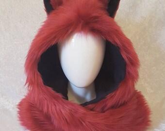 Natural Red Fox Critter Hood