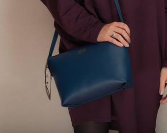 Leather bag leather crossbody leather shoulder bag navy leather bag leather crossbody bag leather messenger bag leather bag women purse