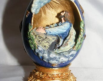 Franklin Mint  Life of Christ Eggs   The Agony in the Garden