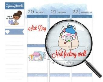 32 Sick Day Planner Stickers