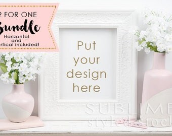 Frame Styled Stock Photo / Frame Mockup / Blank Frame / Wall Art Display / Empty Frame / Mock up Frame / Print Display / StockStyle-864