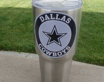 Custom COWBOYS Tumbler Vinyl Decals Stickers Fits 30oz & 20oz Cups YETI/RTIC Choose Your Size From 5 Styles! Free Shipping Buy 2 Get 1 Free