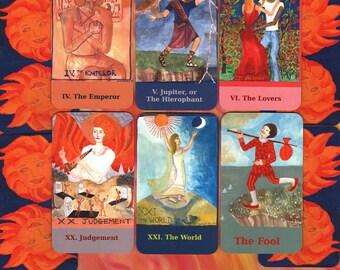 Fiery Wands Tarot illustrated tall deck