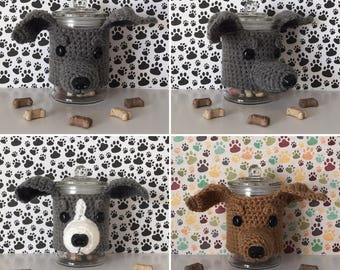 Miniature Greyhound - Italian Grey Hound - Greyhound Rescue - Crazy Dog Lady - Greyhound Puppy - Dog Treat Jar - Funny Greyhound
