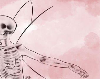 Skeletal Butterfly Print