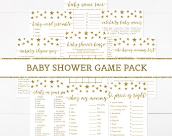 Twinkle Twinkle Little Star Baby Shower Game Package, Twinkle Little Star Baby Shower Games Pack, Baby Shower Activity, Printable - SG1