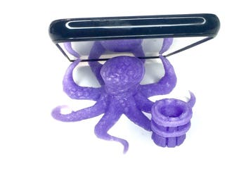 Octopus  Desktop Smartphone Stand | Cell Phone Holder | 3D Printed