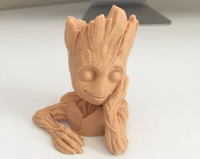 Baby Groot Figure and Vase
