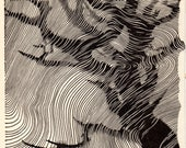 1948 Don BLANDING Original Art Deco Vintage Print Cypress in Mist