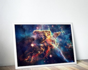 Outer Space Art, Astronomy Space Poster - Christmas Gifts - Hubble Carina Nebula Nasa Poster - Galaxy Poster, Galaxy Print