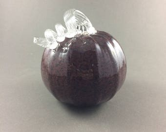 Hand Blown Mulit-Color Red Pumpkin