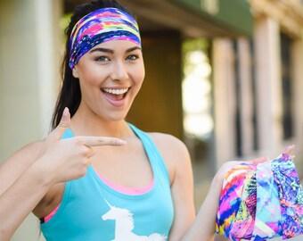 Workout Headband - Yoga Headbands - Fitness Headband - Running Headband - Boho Wide Headband - No Slip - Non Slip (Unstoppable)