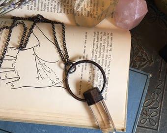 Smoky Quartz Jewelry Polished Smoky Quartz Necklace Healing Crystals Crystal Jewelry Boho Necklace Gypsy Jewelry  Natural Smoky Quartz Gift