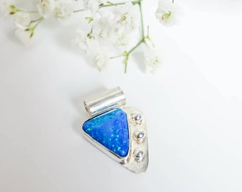 Staring at the Sea, turquoise opal pendant necklace