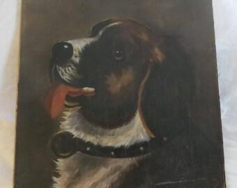 19th C Oil Painting of St. Bernard