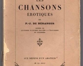 Les Chansons Erotiques by de Beranger with 15 Colour Erotic Plates