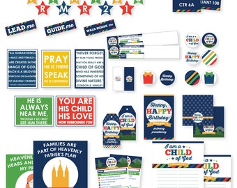 2018 LDS Primary Bundled Package - I am a child of God Printables - Moon Theme - MB