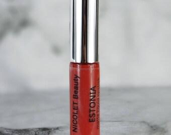 Matte Liquid Lipstick : ESTONIA. Orange red liquid lipstick. Vegan Matte Liquid Lipstick.