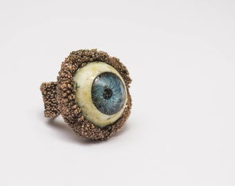 Badeye Ring, raw copper magic cursing ring. HEX
