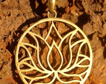 Necklace with Lotus flower