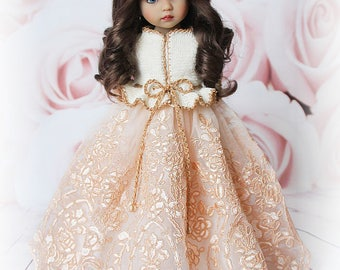 """OOAK outfit for Little Darling dolls 13"""" by Dianna Effner: jacket and dress"""
