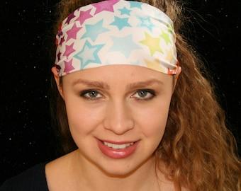 Cosmos Headband - Yoga Headband - Sport Headband - Workout Headband - Fitness Headband - Running Headband - Spandex Headband - Wide Headband