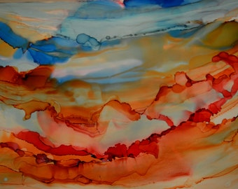 Clouds: Abstract Alcohol Ink Art