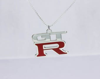 Nissan GTR Necklace Sterling Silver 925
