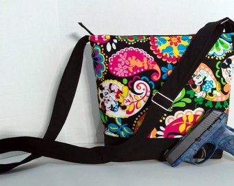 Concealed Carry Crossbody Bag Purse Handmade With Disney Mickey Mouse