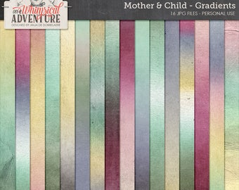 Mother, baby, child, digital scrapbooking paperpack, digital download gradients, ombre papers, textures, backgrounds, art journaling