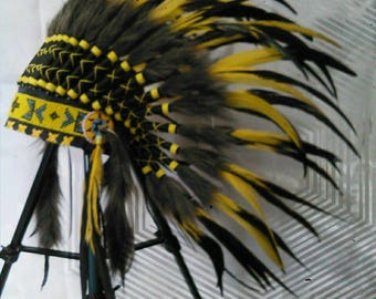 Little chief Infant/toddler Indian Headdress style. Photoshoot, birthday party, kids feather headdress, native american headdress inspired