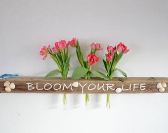 Driftwood wall vase board BLOOM YOUR LIFE